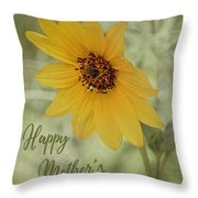 Mother's Day Sunflower Throw Pillow