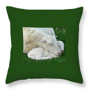 Mother's  First Love Throw Pillow