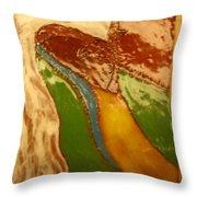 Mothers Kiss - Tile Throw Pillow