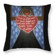 Mothers Of Black Lives Matter  Throw Pillow
