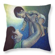 Mother's Play Throw Pillow