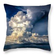 Mothership Thunderstorm  Throw Pillow