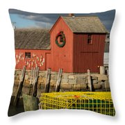 Motif 1 At Christmas, Rockport, Ma Throw Pillow