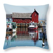 Motif #1, Rockport Ma, 1 Throw Pillow