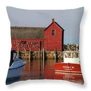 Motif No. 1 Reflections Rockport Massachusetts Throw Pillow