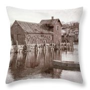 Motif Number 1 - Black And White Throw Pillow