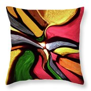 Motion And Light Abstract Throw Pillow