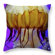 Motion In Reds And Oranges Throw Pillow
