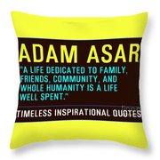 Motivational Quotes Throw Pillow