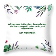 Motivational Quotes - All You Need Is The Plan Throw Pillow