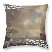 Motivational Quotes - Defiance Throw Pillow