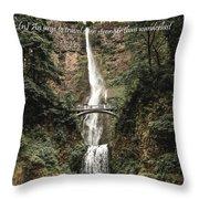 Motivational Travel Poster - Fernweh Throw Pillow