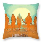 Motivational Travel Poster - Hireath 2 Throw Pillow