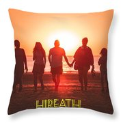 Motivational Travel Poster - Hireath Throw Pillow