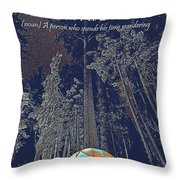 Motivational Travel Poster - Peripatetic 2 Throw Pillow