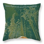 Motivational Travel Poster - Peripatetic 3 Throw Pillow