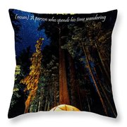 Motivational Travel Poster - Peripatetic Throw Pillow