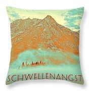 Motivational Travel Poster - Schwellenangst 2 Throw Pillow