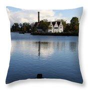 Motlawa River Gdansk Throw Pillow