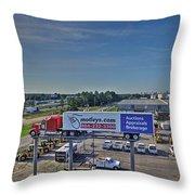 Motley Auto Auction Throw Pillow