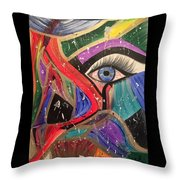 Motley Eye Throw Pillow