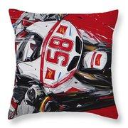 Moto Gp Simoncelli Honda 58 Throw Pillow
