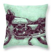Moto Guzzi Le Mans 3 - Sports Bike - 1976 - Motorcycle Poster - Automotive Art Throw Pillow