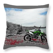 Motocross Throw Pillow