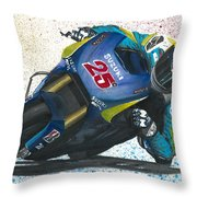 Motogp - Maverick Full Gas  Throw Pillow