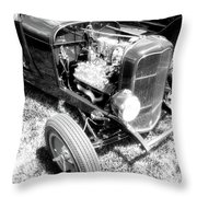 Motor Wheel Bw Throw Pillow