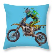 Motorbiker Throw Pillow