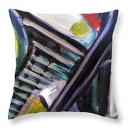 Motorcycle Abstract Engine 1 Throw Pillow