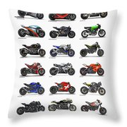 Motorcycle Concepts 2017-2018 Throw Pillow