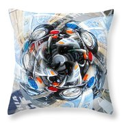Motorcycle Mixup Throw Pillow