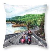 Motorcycle Ride Throw Pillow