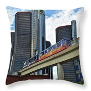 Motoring In The Motor City Throw Pillow