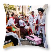 Motorized Recliners And Elvis - Nola Throw Pillow
