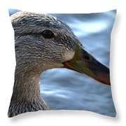 Mottled Duck Big Spring Park Crop Throw Pillow