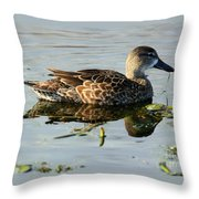 Mottled Duck Throw Pillow