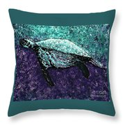 Mottled Sea Turtle  Throw Pillow