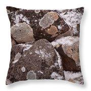 Mottled Stones Throw Pillow