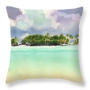 Motu Rapota, Aitutaki, Cook Islands, South Pacific Throw Pillow by Judith Kunzle