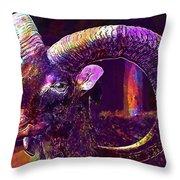 Mouflon European European Mouflon  Throw Pillow
