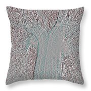 Mould Inscription Gray Throw Pillow