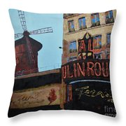 Moulin Rouge Throw Pillow