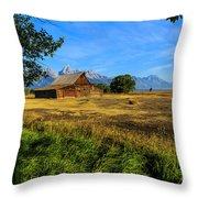 Moulton Barn Jackson Hole Throw Pillow