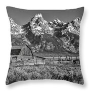 Moulton Cabin - Grand Tetons II Throw Pillow