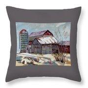 Moultons Barns Throw Pillow