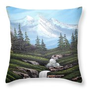 Mounatain Hide-away Throw Pillow