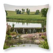 Mound Lake Dam 1 Throw Pillow
